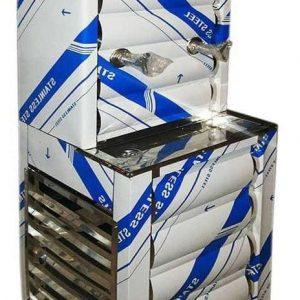 فروش اینترنتی آبسرد کن استیل ۲ شیر ارسال رایگان